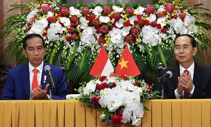 Presiden Targetkan Perdagangan Indonesia-Vietnam Capai USD10 Miliar di Tahun 2020