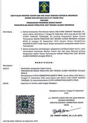 AHU - Badan Penelitian Aset Negara Aliansi Indonesia