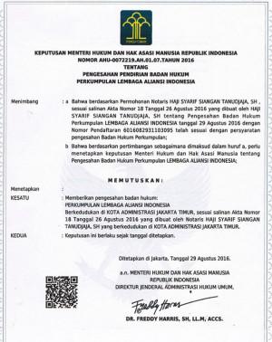 AHU - Lembaga Aliansi Indonesia
